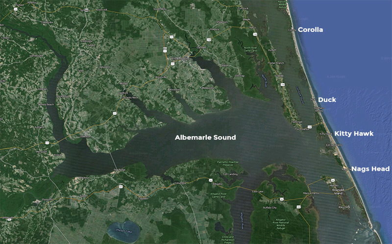 Albemarle Sound Location