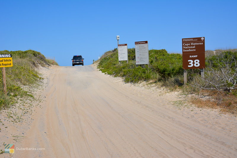 Cape Hatteras National Seashore ramp 38 at the Southern end of Avon NC