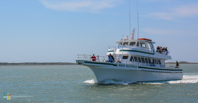 A tour boat in Hatteras