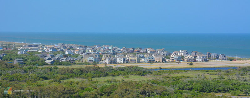 A view of Buxton from the Cape Hatteras Lighthouse