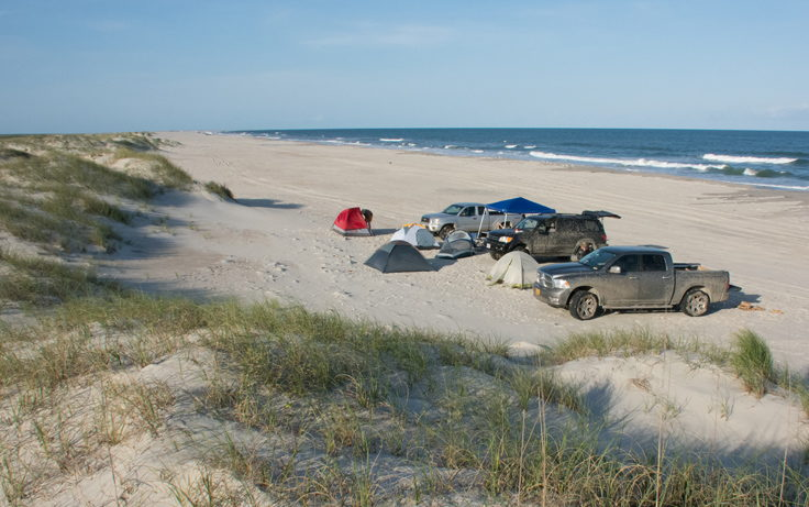 Beach camping is only available on Portsmouth Island