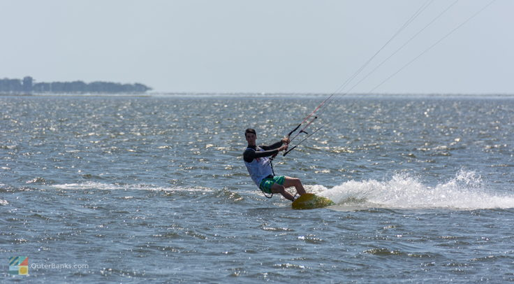 Kiteboarder at Canadian Hole