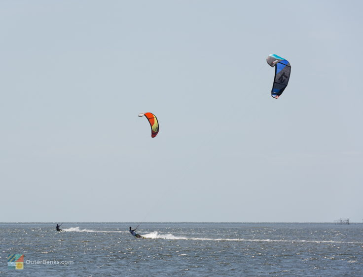 Kiteboarders at Canadian Hole