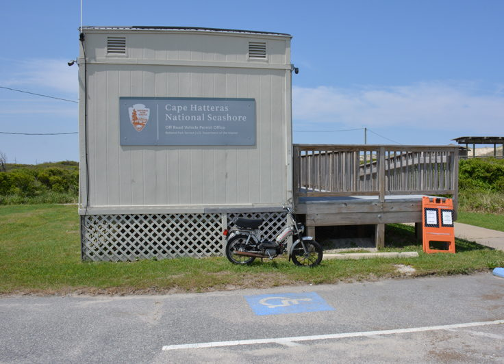 ORV Permit office at Coquina Beach
