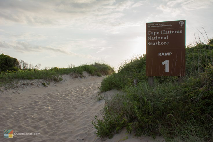 Ramps are marked in Cape Hatteras National Seashore on Hatteras Island. Permit required.