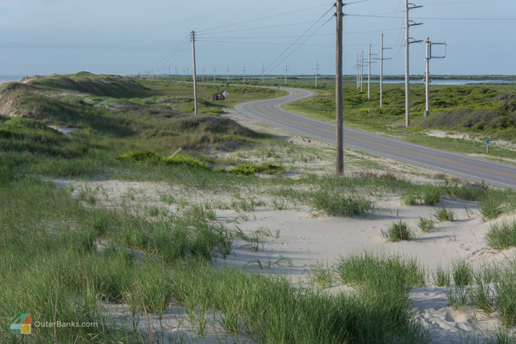 NC-12 looking South on Hatteras Island