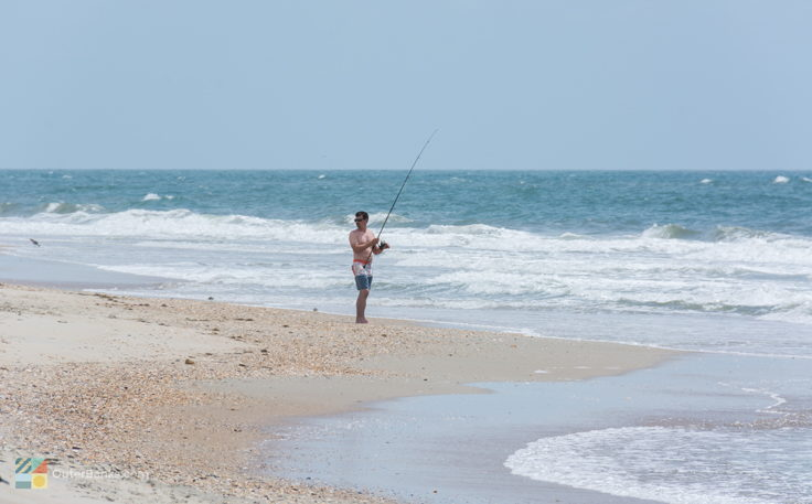 Surf fishing from CHNS