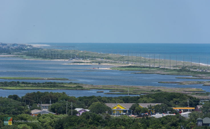 A view North toward Avon from Cape Hatteras Lighthouse