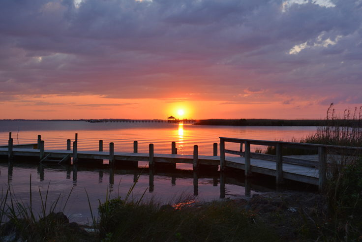 Currituck Sound at sunset