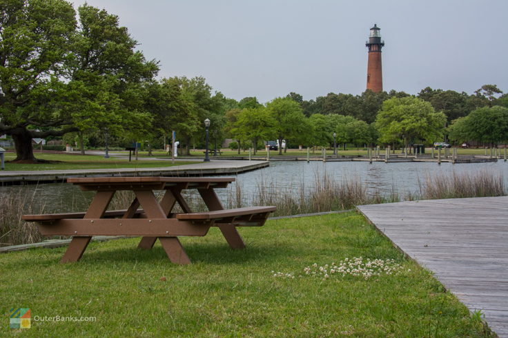 Picnic area at Historic Corolla Park