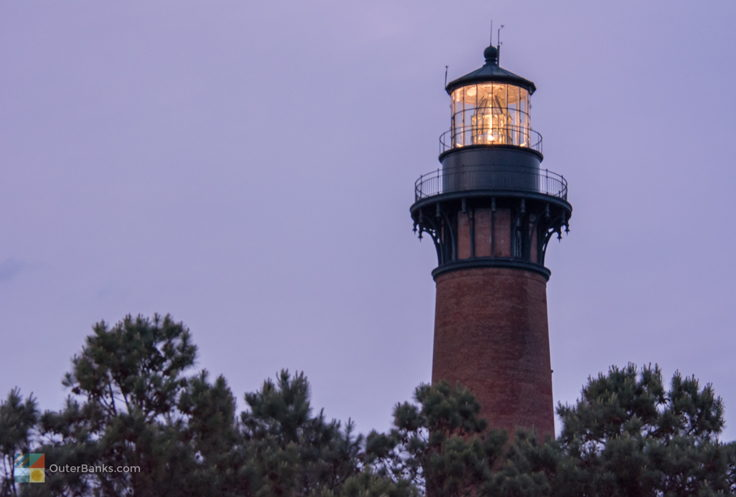 Currituck Beach Light at dusk