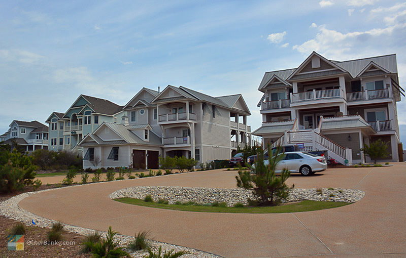 A new rental home neighborhood with 10+ bedroom homes in Corolla