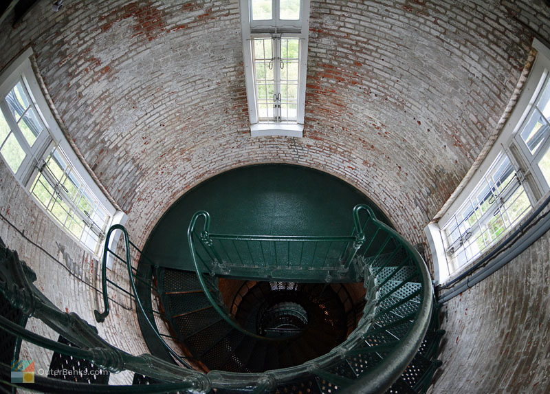 An interior view of the beautiful Currituck Beach Lighthouse