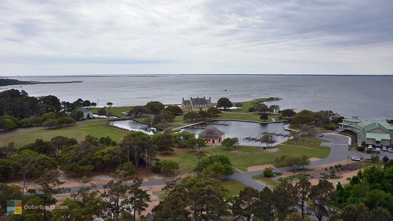 Historic Corolla Park from the top of Currituck Beach Lighthouse