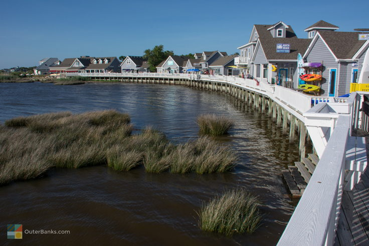 Currituck Sound and Duck Waterfront Shops