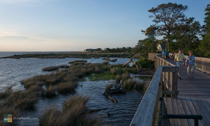 Currituck Sound from Duck Town Boardwalk