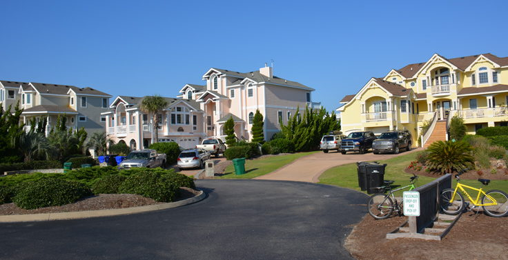 Large rental homes in Duck