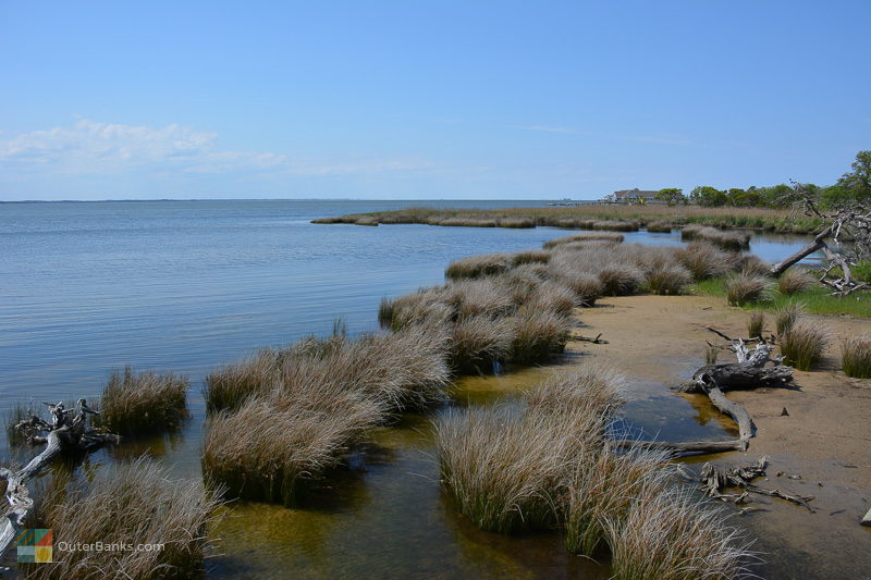 A view of the Currituck Sound from Duck Town Boardwalk