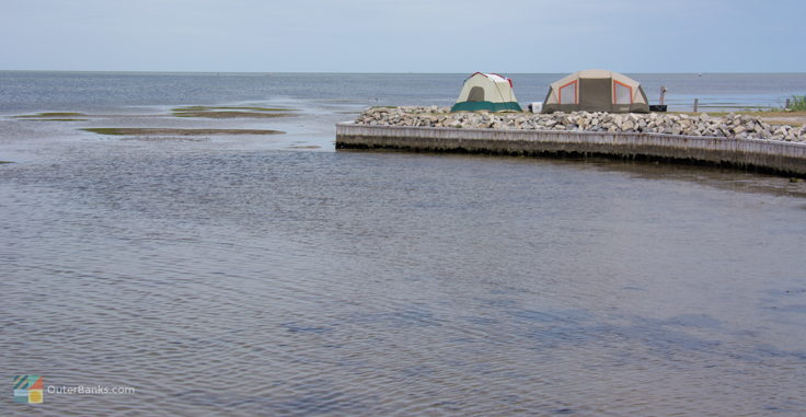 Tent sites along Pamlico Sound