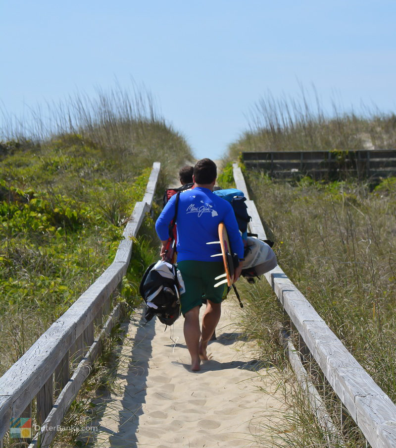 Surfing in Hatteras is popular almost year round