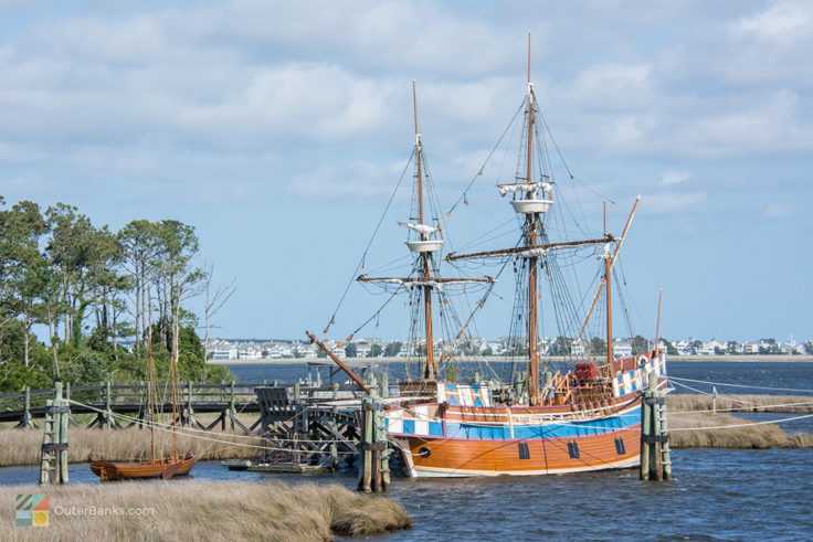 Elizabeth-II is moored at Roanoke Island Festival Park