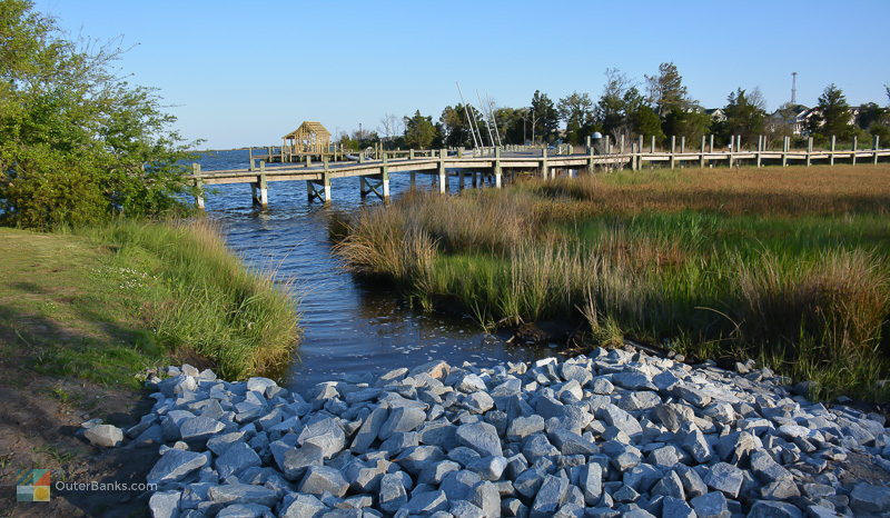 George Washington Creek Park in Downtown Manteo