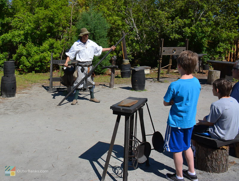 Kids learn about English settlement life at Roanoke Island Festival Park