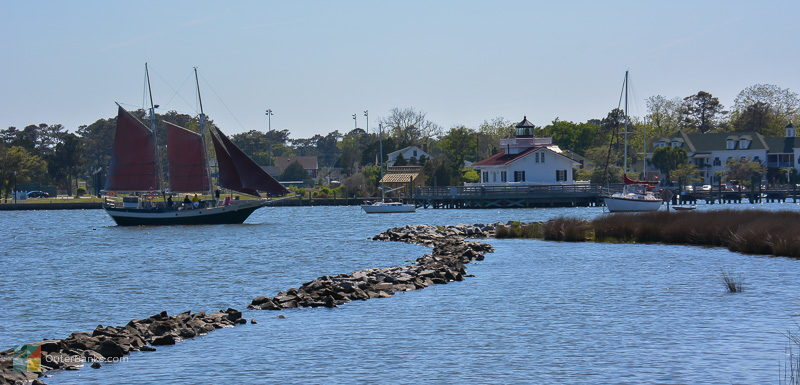 An afternoon sailing tour returns to Manteo waterfront marina