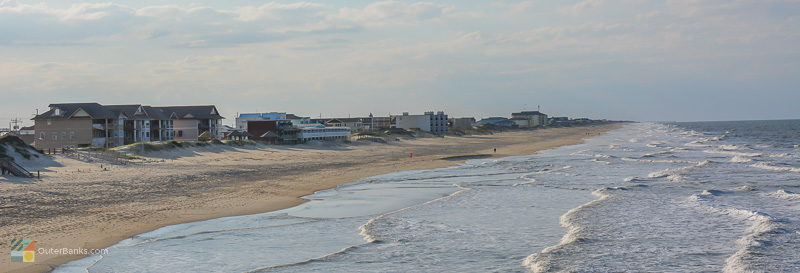A view of the Nags Head beach from Jenette's Pier