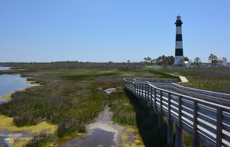 The marsh walk at Bodie Island Lighthouse