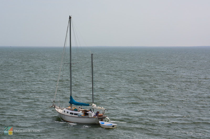 A relaxing sail across the wide Pamlico sound