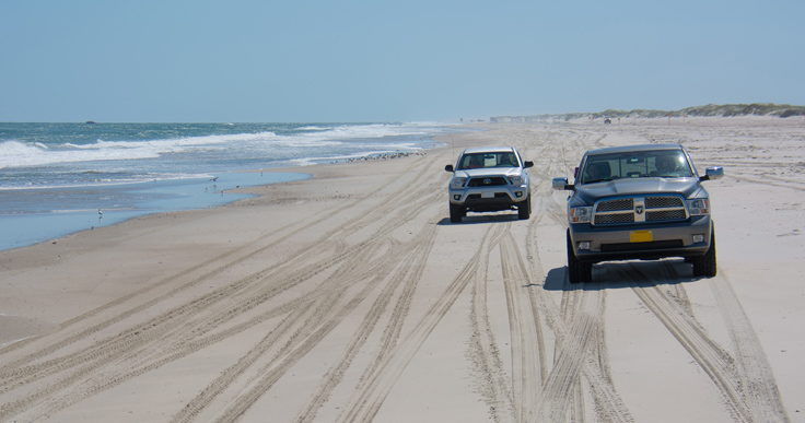 Portsmouth Island 4x4 beach