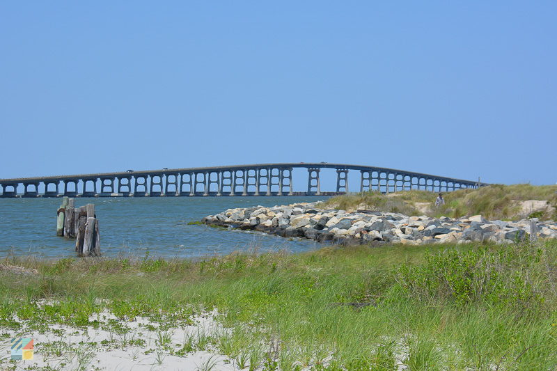 Herbert C. Bonner Bridge from the Northern tip of Hatteras Island