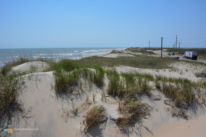 Miles of empty beaches await in the Pea Island Wildlife Refuge