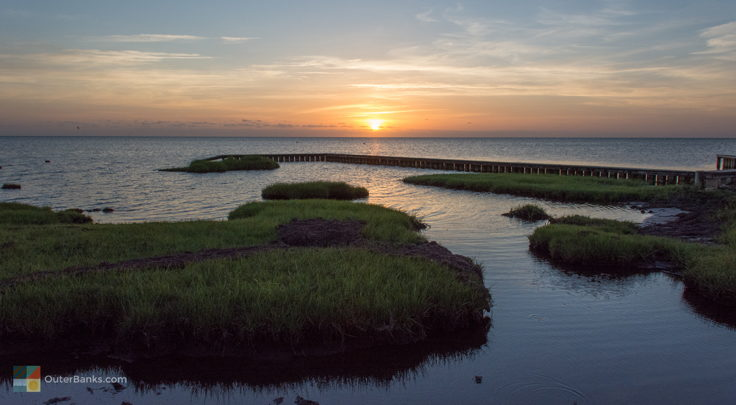 Sunset over Pamlico Sound