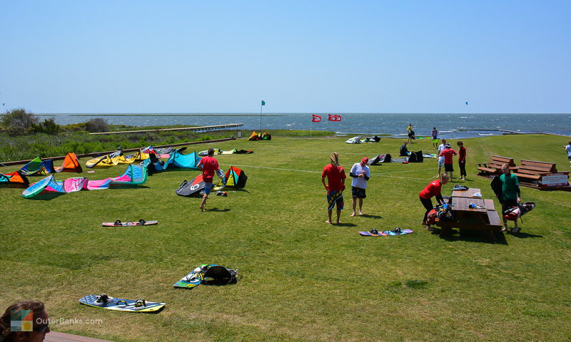 A typical mid-week afternoon on the lawn at Real Watersports