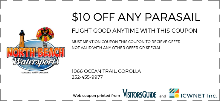 $10 OFF ANY PARASAIL