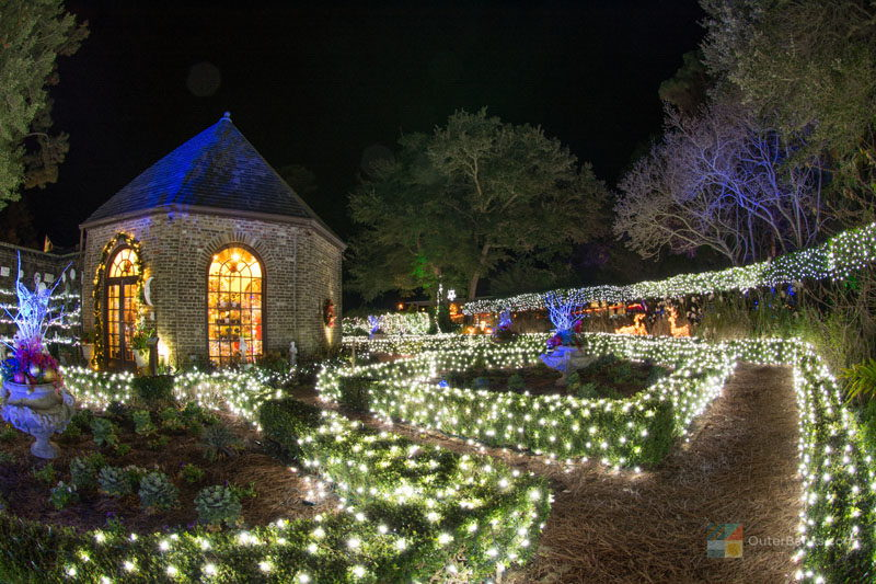 Winter Lights At Elizabethan Gardens Outerbanks