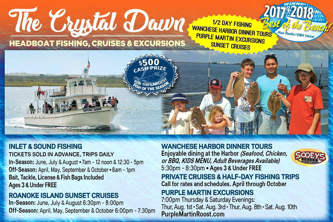 $3 OFF  (IN-SEASON) 1/2 Day Fishing Trip • Sunset Cruises