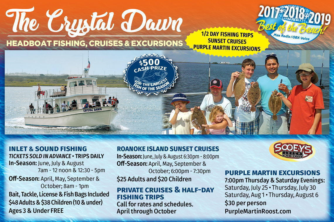 $3 OFF  (IN-SEASON) 1/2 Day Fishing Trips • Sunset Cruises