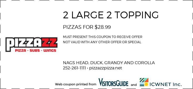2 LARGE 2 TOPPING