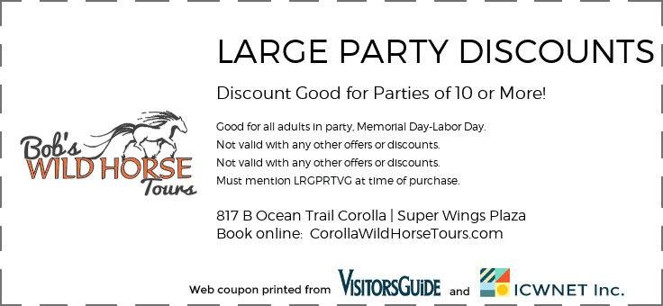LARGE PARTY DISCOUNTS