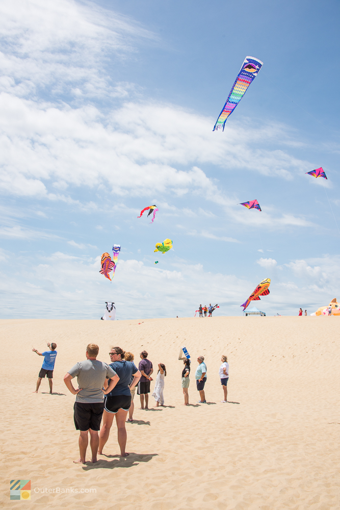 Kitty Hawk Kites festival at Jockey's Ridge State Park