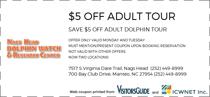 $5 OFF DOLPHIN TOUR