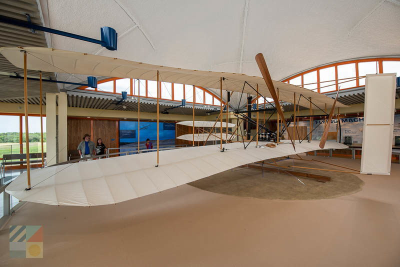 Wright Wright Flyer replica at the Wright Brothers National Memorial
