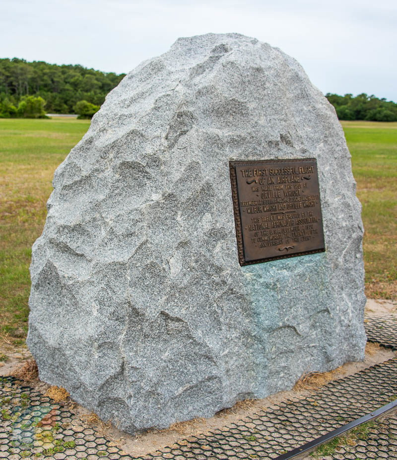Wright Brothers National Memorial 1st flight path marker