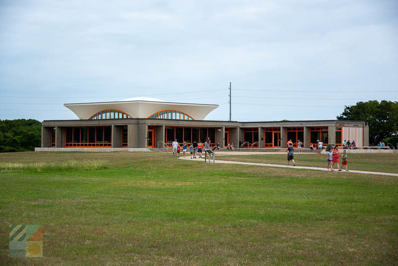 The new visitors center at the Wright Brothers National Memorial