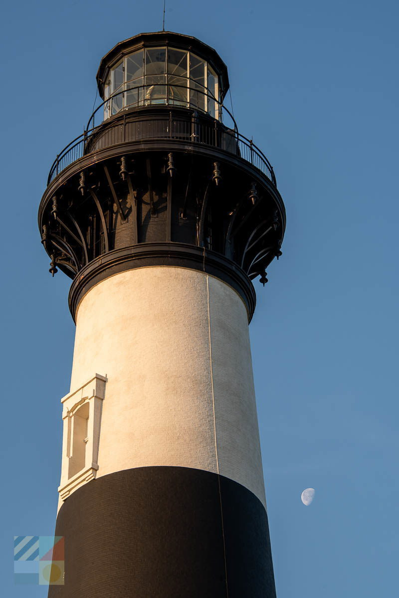 Bodie Island Light and the Moon