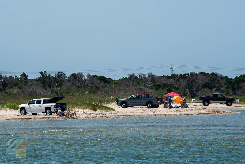 Parking on the beach along Cape Hatteras National Seashore