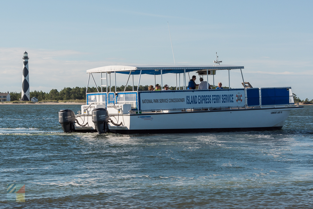 Island Express ferry to Cape Lookout National Seashore